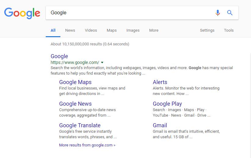 Google Brand SERPs